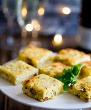 Tender potato, melty cheese, fresh sweet chive and herbaceous basil all sit so perfectly with egg. So you just know these Potato, Basil and Chive Frittata Squares are going to be a hit!!!!