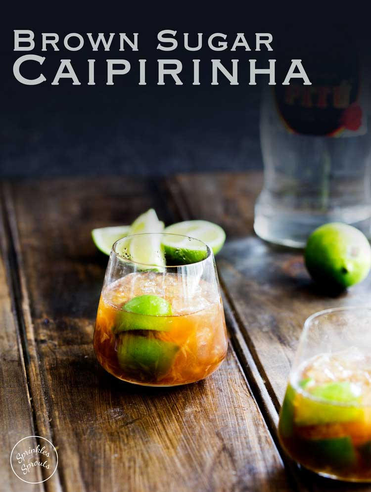 A delicious and refreshing cocktail that is a little bit different. This Brown Sugar Caipirinha will go down a treat. Perfect for sipping this weekend. If you like mojito then you will love these Caipirinhas.
