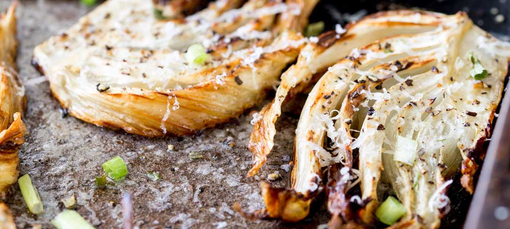 Roasted Fennel with Parmesan and Chives