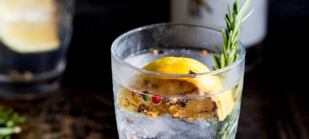 Charred Lemon, Rosemary and Coriander Gin & Tonic