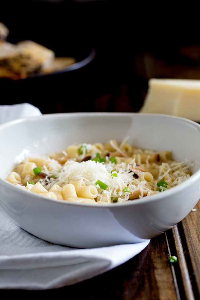 Pasta with Mushroom Broth, Butter and Parmesan. A comforting bowl of pasta with mushroom broth, butter and parmesan. This vegetarian pasta dish is sure you make a regular appearance on your menu as it is quick and easy and tastes amazing. Dried mushrooms form the basis for this simple pasta dish that will please vegetarians and meat-eaters alike!