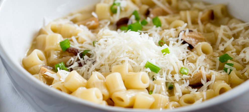 Pasta with Mushroom Broth, Butter and Parmesan