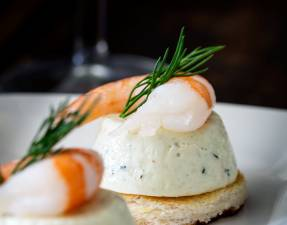 Cucumber Mousse And Dill Prawn Bites are sublime. The subtle and refreshing taste of cucumber combined in a soft heavenly mousse, sat on top of a crispy toast circle and topped with a succulent prawn and the freshness of dill.