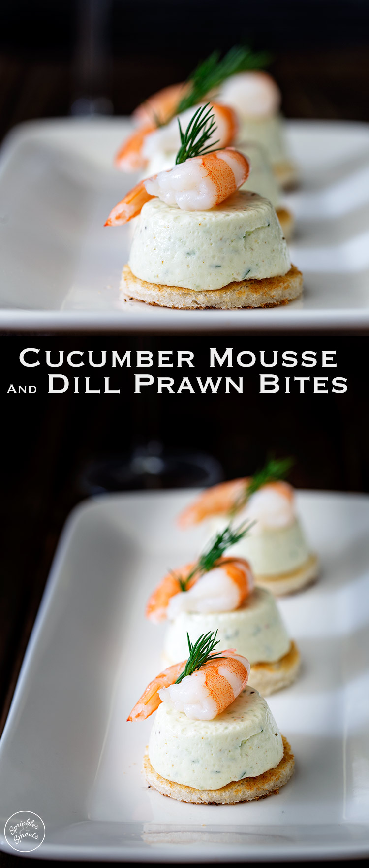 These Cucumber Mousse And Dill Shrimp Bites are sublime. The subtle and refreshing taste of cucumber combined in a soft heavenly mousse, sat on top of a crispy toast circle and topped with a succulent shrimp and the freshness of dill. From https://www.sprinklesandsprouts.com.au