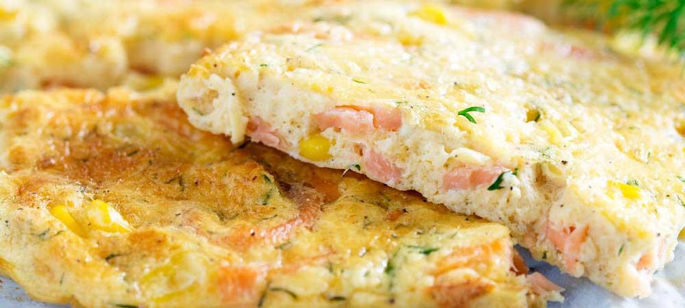 Sheet Pan Smoked Salmon Frittata #FishFridayFoodies