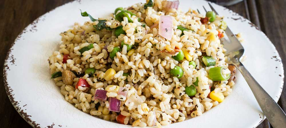 Brown Rice Salad with Garden Vegetables