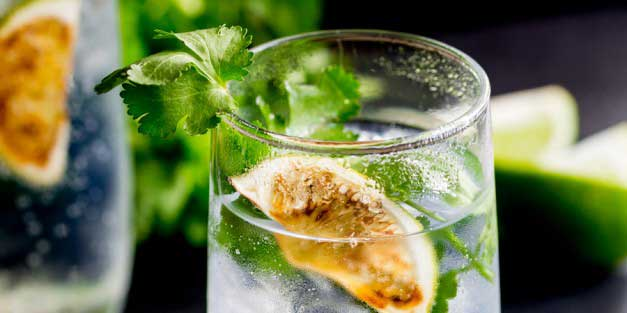 This Charred Lime Gin & Tonic with Fresh Coriander takes the fabulous pairing of gin and lime, boosts it up and then adds to the botanicals with fresh coriander. It is a delicious and unusual Gin & Tonic, but one definitely worth giving a try.  From Sprinkles and Sprouts