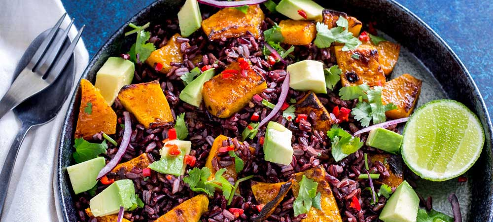 Mexican Black Rice and Pumpkin Salad #SundaySupper