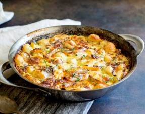 FEATURE IMAGE - Baked Pumpkin Gnocchi with Thyme and Parmesan.