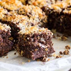 Chocolate Brownies with salted panko recipe