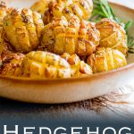 These Hedgehog Roasted Rosemary Potatoes are the most delicious and beautiful side dish. Crispy on the outside, buttery and soft inside and packed with rich rosemary flavours, they are a dinner time treat and would be perfect for any occasion. Recipe from Sprinkles and Sprouts | Delicious food for easy entertaining.