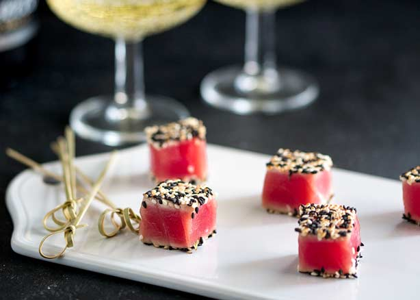 Seared Sesame Tuna Bites – A Quick Canapé