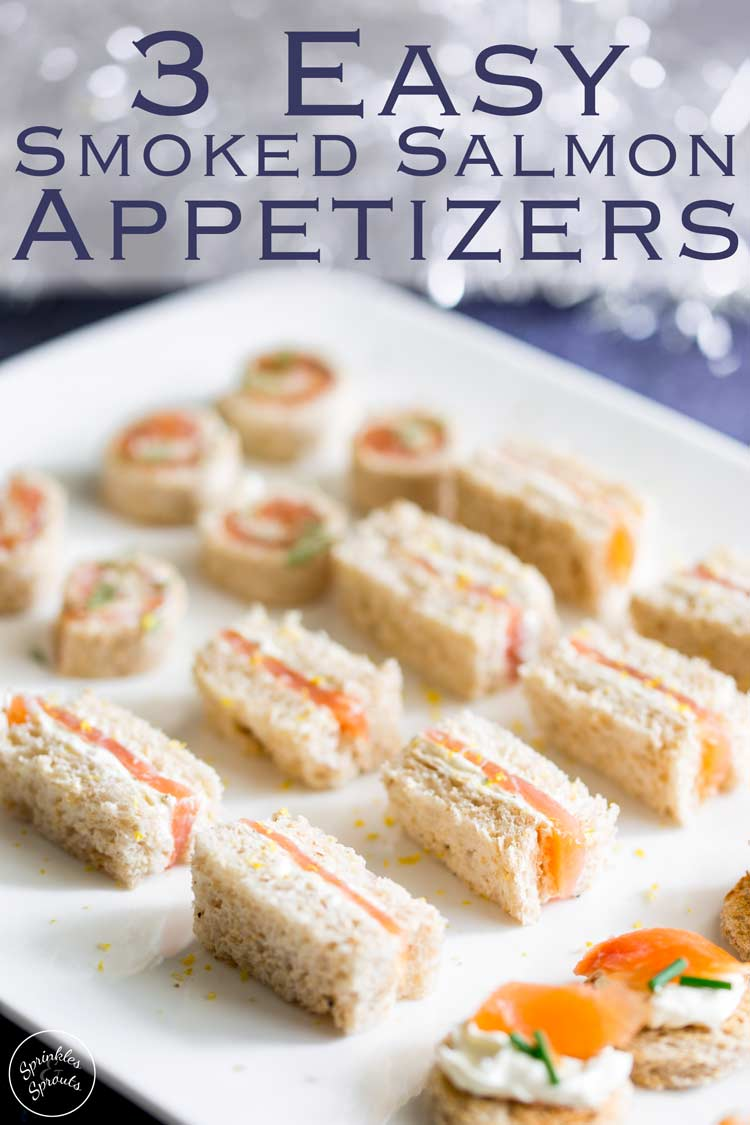 3 Easy Smoked Salmon Appetizers that are super simple to make with supermarket ingredients, but the small bites add a wow factor to any occasion. Make all three from your base ingredients or pick one and pile your platter high with them. Whatever you choose to do these smoked salmon appetizers are perfect for parties!