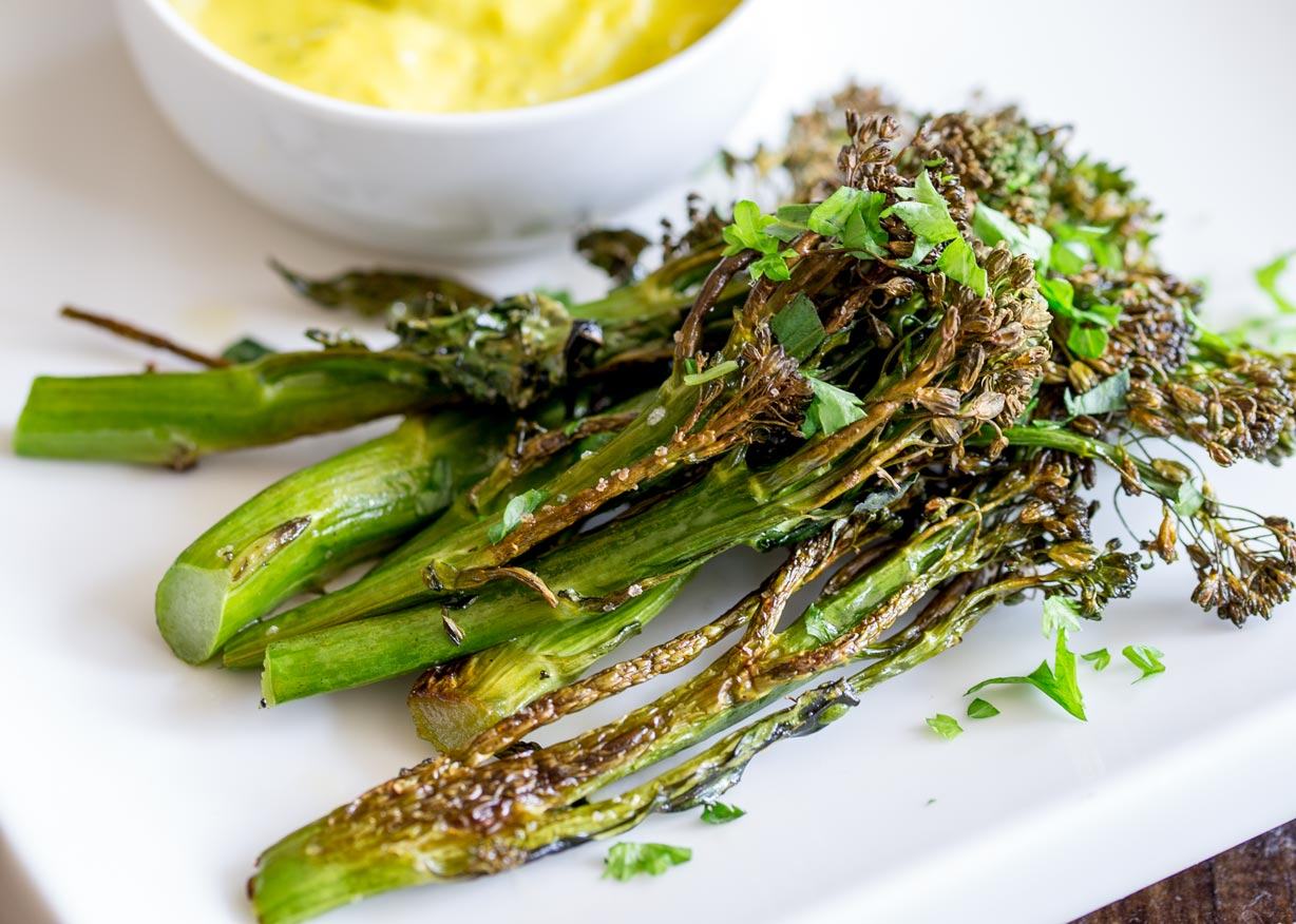 Roasted Broccolini with Easy Bearnaise Sauce