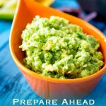Prepare Ahead Stay Green Guacamole | Rich and creamy, with a nice bight punch of lime and the subtle hint of jalapeño and onion. With my top tips you can make this up to 3 days before you need it! This Prepare Ahead Stay Green Guacamole really does stay green! Recipe by Sprinkles and Sprouts | Delicious Food for Easy Entertaining #dip #avocadorecipe #cincodemayo #tacotuesday #guacamolerecipe