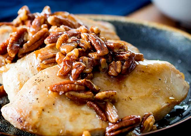 Honey Butter Pecan Chicken Breasts