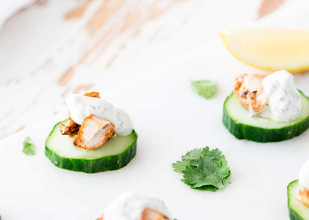 Tandoori Chicken & Yogurt Cucumber Bites