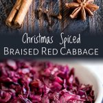 split picture of the spices and then the bowl of red cabbage with text at the top