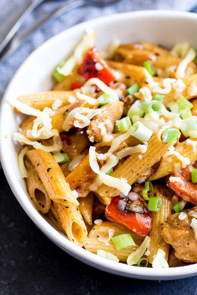 Creamy Cajun Chicken and Sausage Pasta | Sprinkles and Sprouts