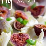 fig caprese salad with text at the top