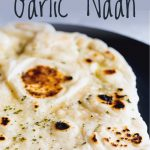 shot of the blackened spots on the garlic naan