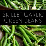 pin image: two pictures of green beans with text between them