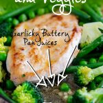 close up on the garlic sauce with text at the top