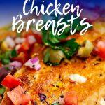 Pinterest image - Italian Chicken with text overlay