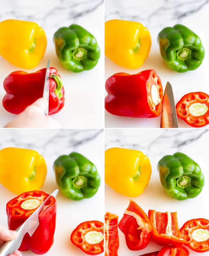 pictures on how to cut bell peppers