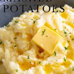 PIN IMAGE - Mashed potatoes with text over the top