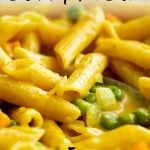 PIN IMAGE - Curry Pasta with text overlay