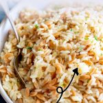 PINTerest Image - Orzo Pilaf with text overlay