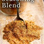 PIN IMAGE - Spice blend on a board with text overlay