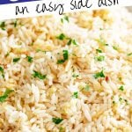 PIN IMAGE - garlic rice with text overlay