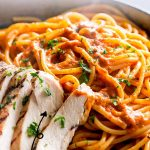 PIN IMAGE - Chicken pepper pasta with text overlay