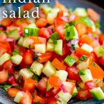 PIN IMAGE - Kachumber Salad with text overlaid