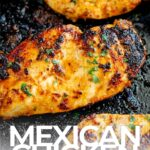 PINTEREST IMAGE - Mexican chicken breast with text overlay
