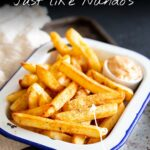 PINTEREST IMAGE - Peri peri fries with text overlay