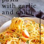 Pinterest image. Crayfish Pasta with text overlay