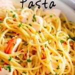 Pinterest image. Lobster Pasta with text overlay